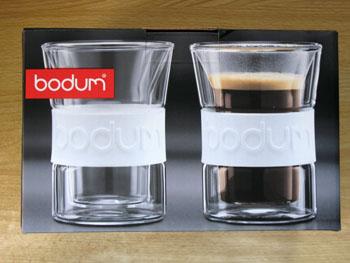 bodum(ボダム) PRESSO(プレッソ)シリコンバンド付きダブルウォールグラス
